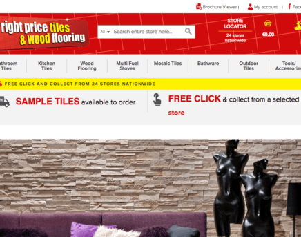 Fantastic Magento eCommerce Website for Right Price Tiles