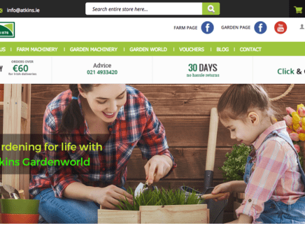 New Atkins Farm & Garden Website Launched By TDD